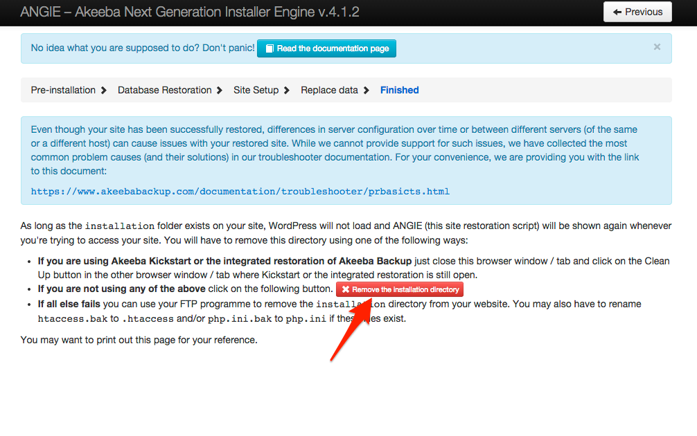 WordPress Web Installer Step 4